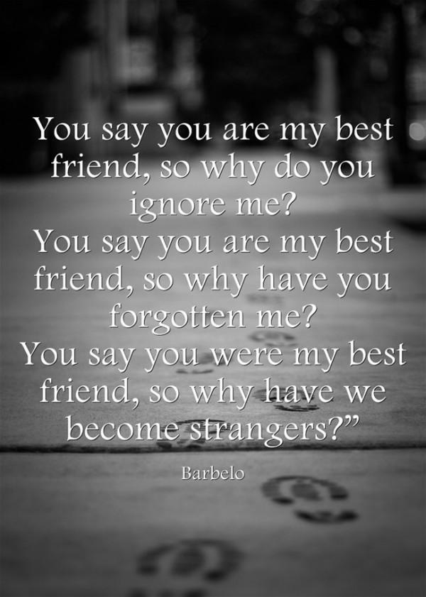 Best friend forgotten