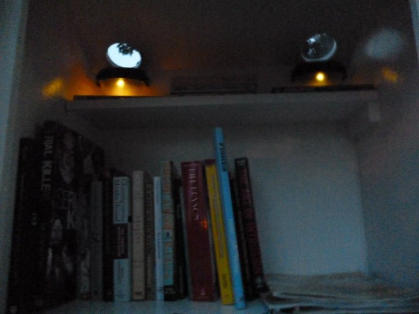 Solar lights for night-time browsing.