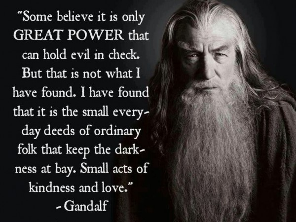 Gandalf -- from the LORD OF THE RINGS