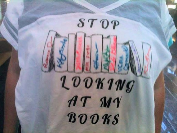 Stop Looking at My Books!