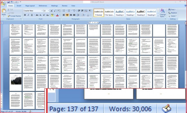 25th July 2014 - 30,000 words and counting