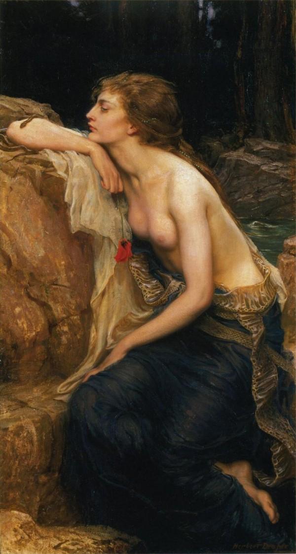 The Lamia, by Herbert James Draper, 1909