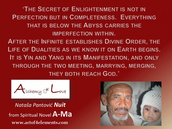 A-Ma Alchemy of Love by Nuit Quote about Secret of Enlightenment