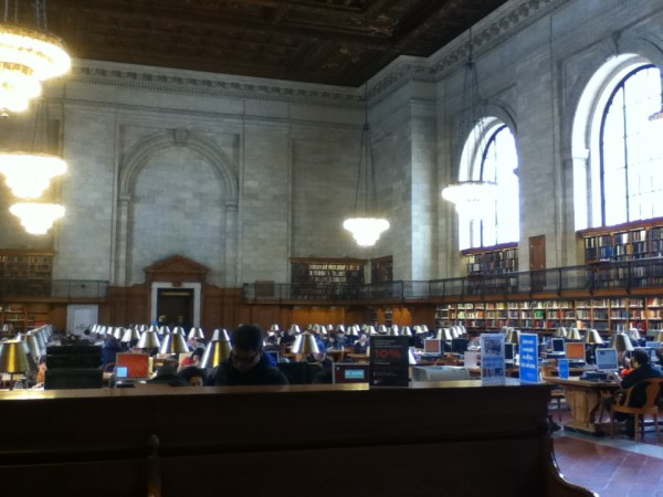 Rose reading room--63 ft short of the size of a football field. That's my kind of sport.
