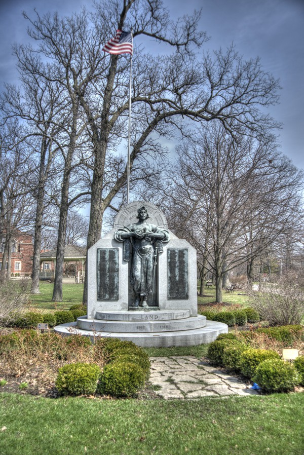 """Highland Park World War I Monument"" photographed by Larry Broutman"