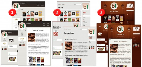 Three BookLikes Blog Design Themes 