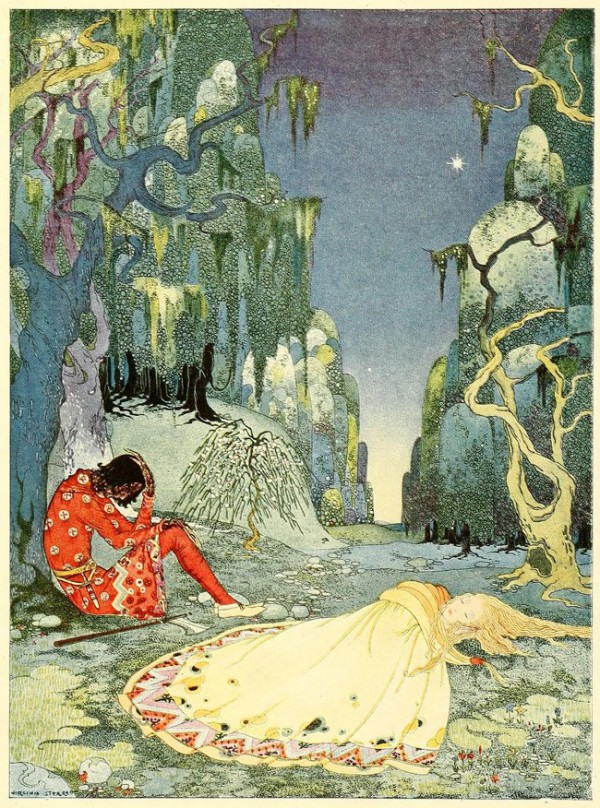 Virginia Frances Sterrett's illustrations for Old French Fairy Tales, 1