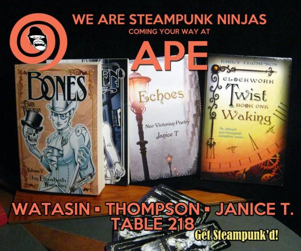 Emi Thompson, Janice T, and myself, at APE 2013!