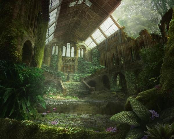 nature claims a church