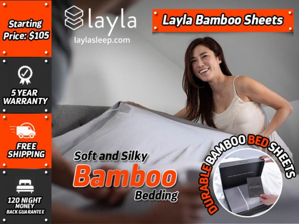 Get Layla Sleep soft and silky Bamboo Sheets at a very affordable price $100