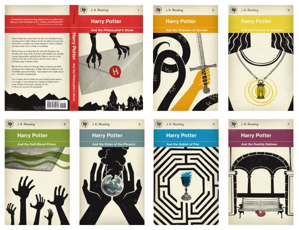 Re-imagined covers for Harry Potter