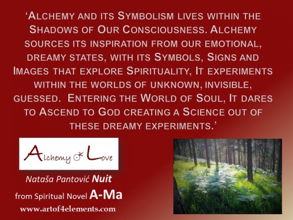 Alchemy of Love Books by Nuit Quote about alchemy mysticism