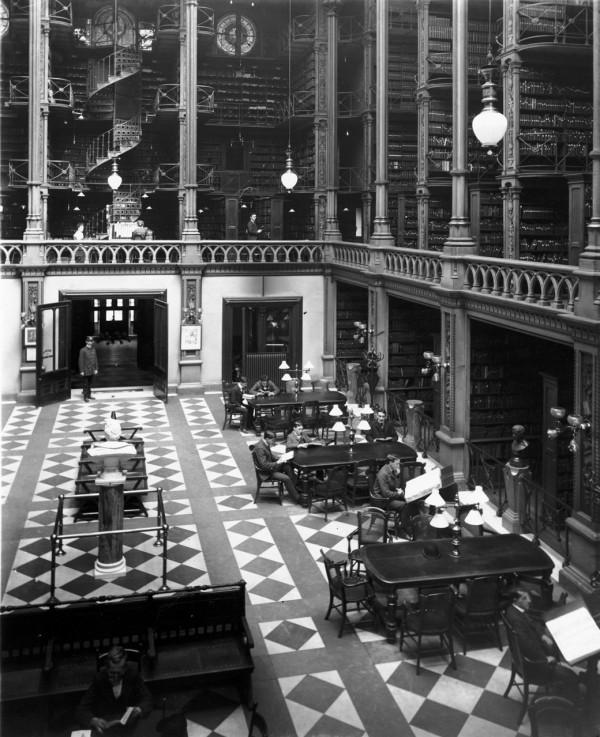 Public Library of Cincinnati, Ohio, circa 1874
