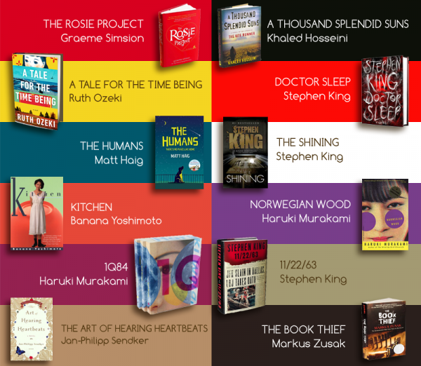 Five-Eyed Bookworm's Top 12 Books (2013)