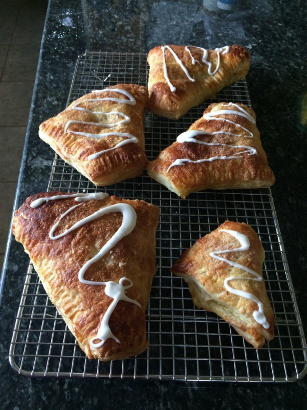 Home-made apple turnovers