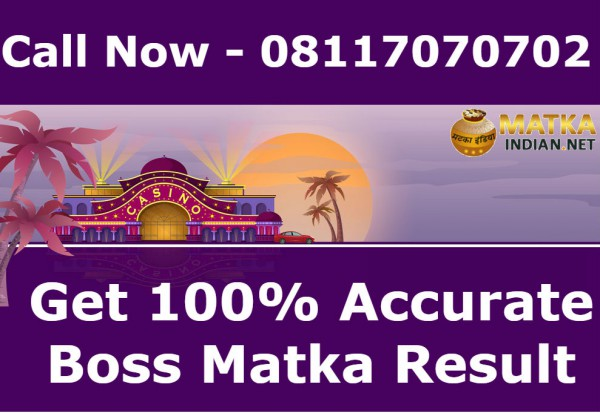 Boss Matka 100%  Accurate Live Result