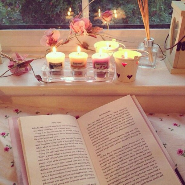 #books #candles #serenity