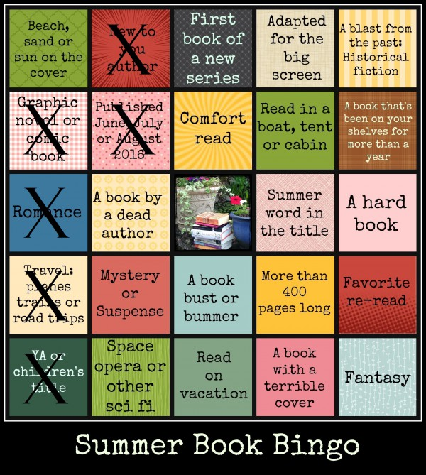 On my last book for bingo