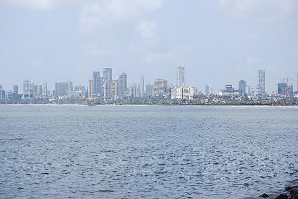 Panorama miasta nad Back Bay (Mumbaj, 2011 r.)