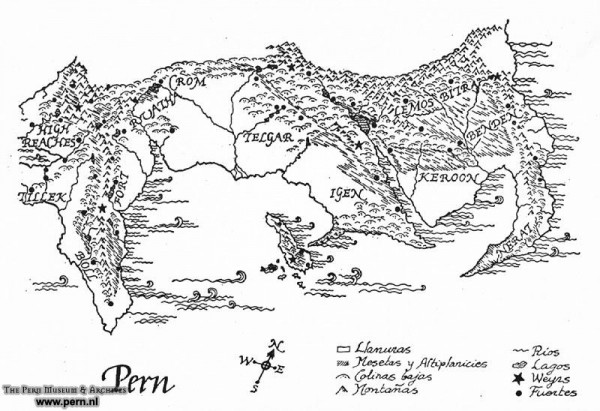 And this is a map of Pern
