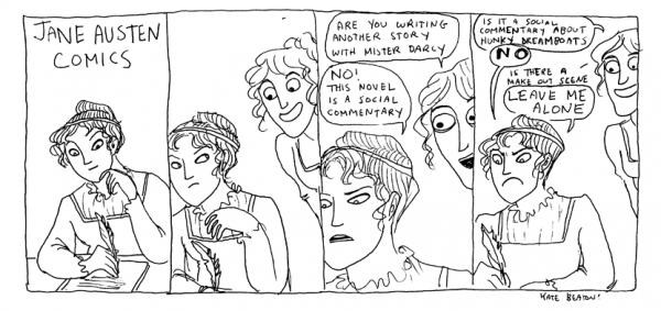 Jane Austen comic by Kate Beaton