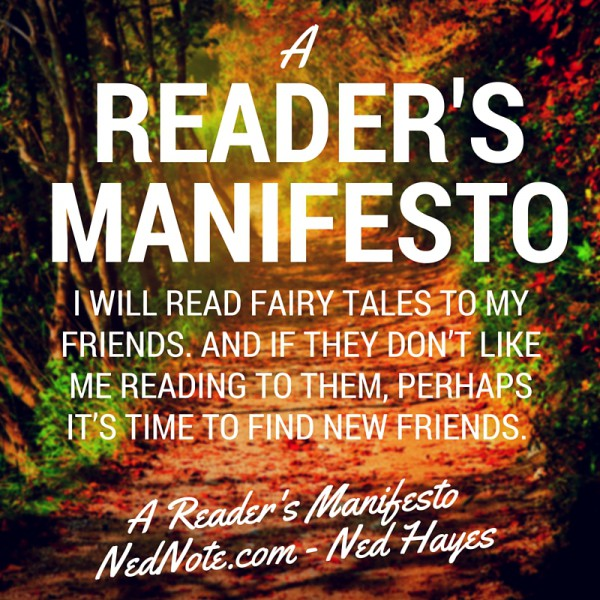A Reader's Manifesto....