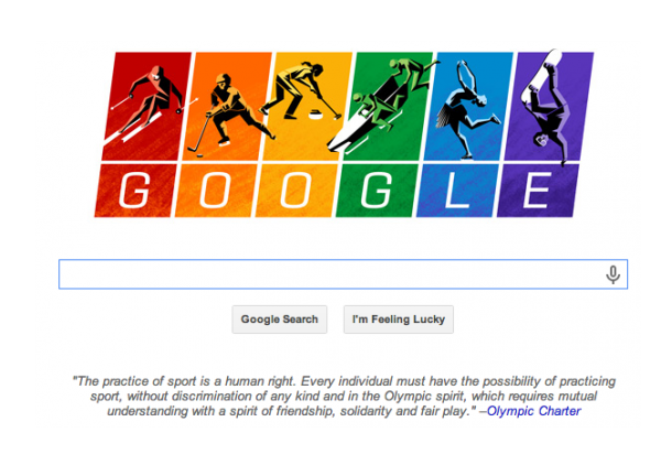 I don't care all that much about the olympics (read: not at all actually), but yay for Google!