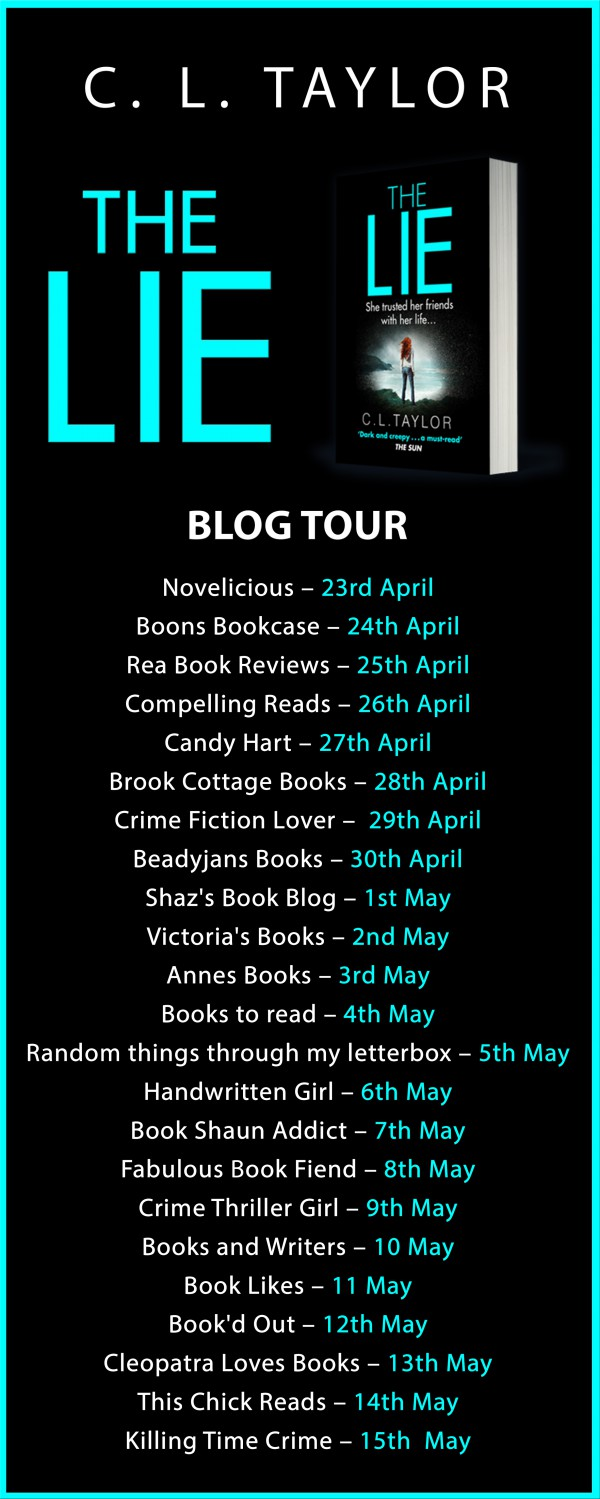The Blog Tour for C. L Taylor's The Lie starts tomorrow!