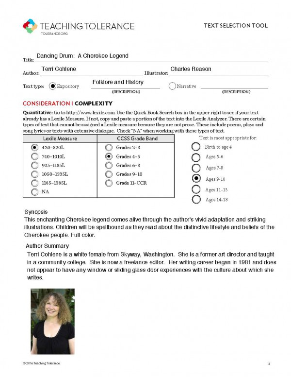 Teaching Tolerance Text Selection Tool 1