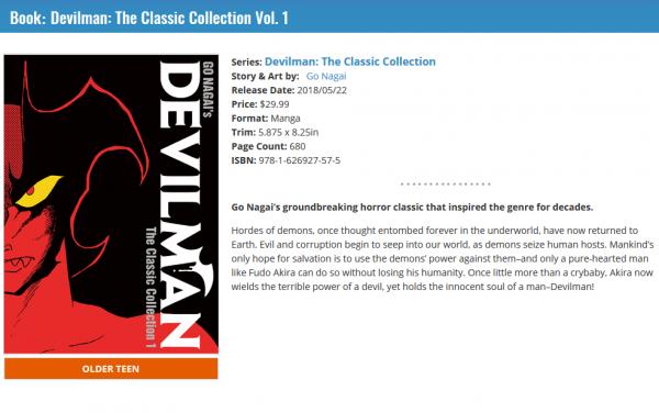 Devilman Vol 1