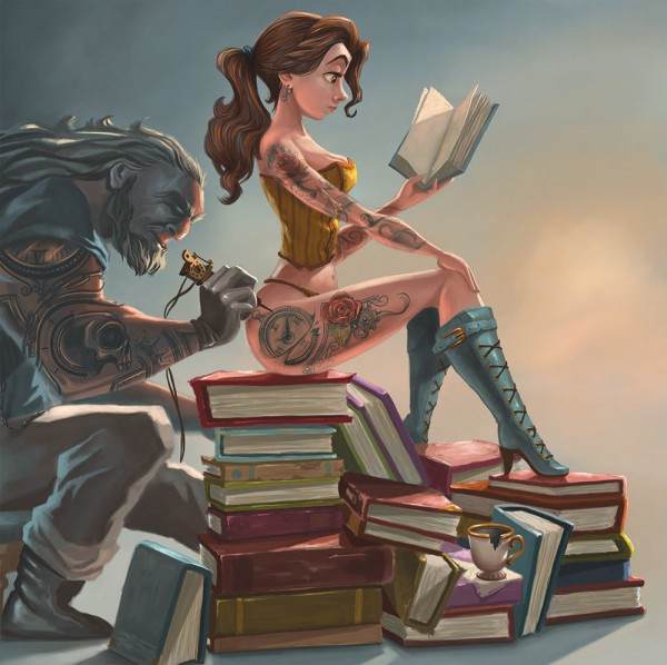 """Even a Disney princess loves to read"""