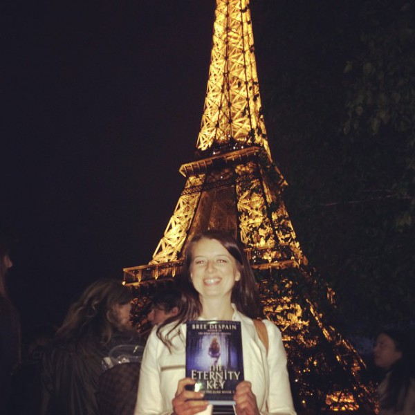 A beautiful author, with her beautiful book!