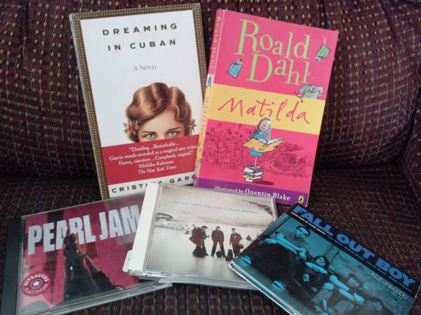 My day-after-surgery-recovery-and-birthday-book/cd haul! $7.38 for all and I had a GC...WOOHOO