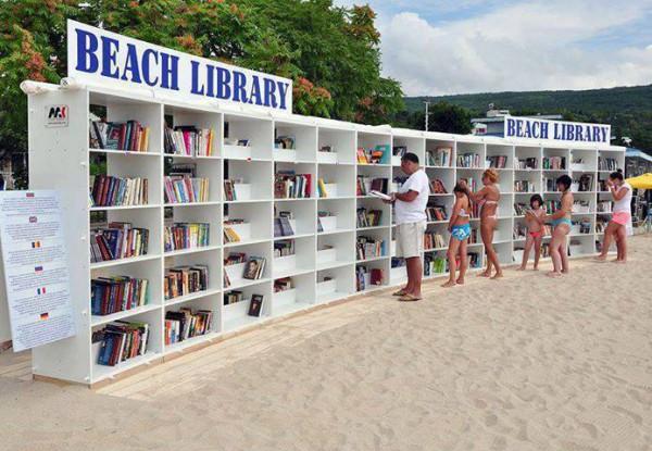 Biblioteka plażowa w Albena, Bułgaria