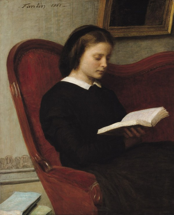 Henri Fantin-Latour: La liseuse, 1861