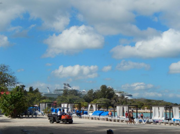The beach.... the cabanas... the cabana boys.... =)