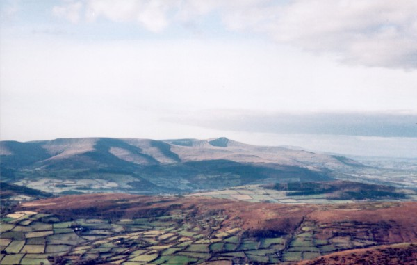 The Brecon Beacons from the Black Mountains