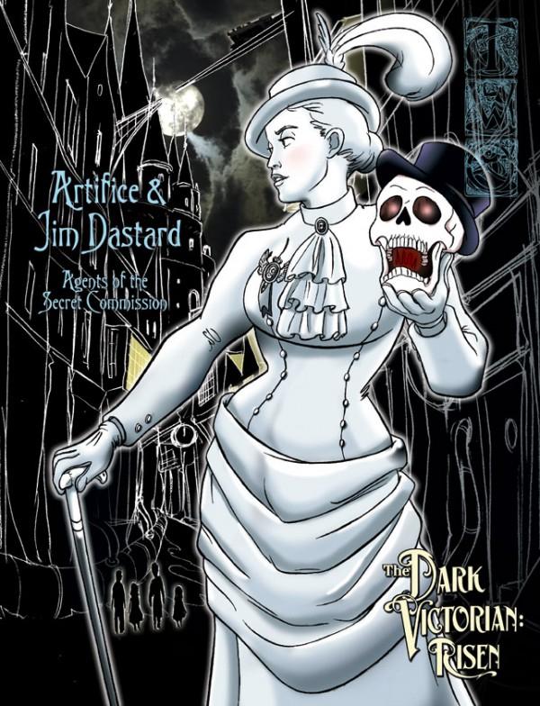 Dark Victorian promotion illustration, one