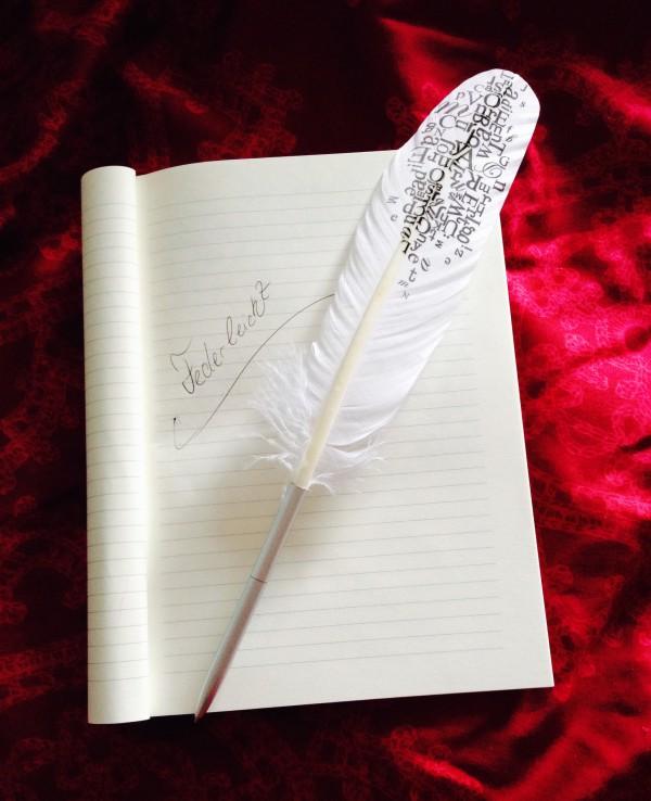 Verliebt in meine neue Schreibfeder