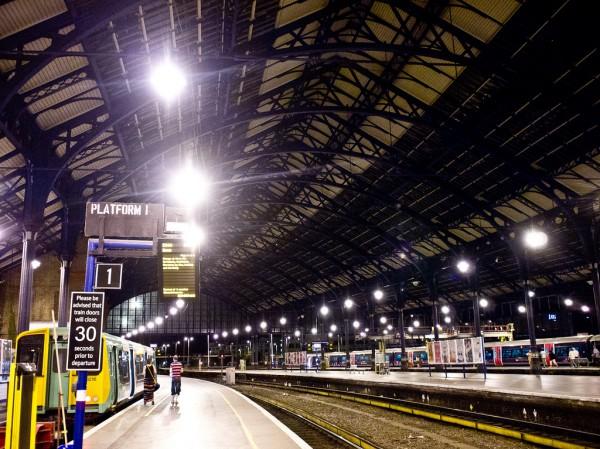 Brighton Station by night