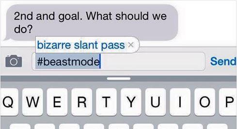 Pete Carroll's iPhone