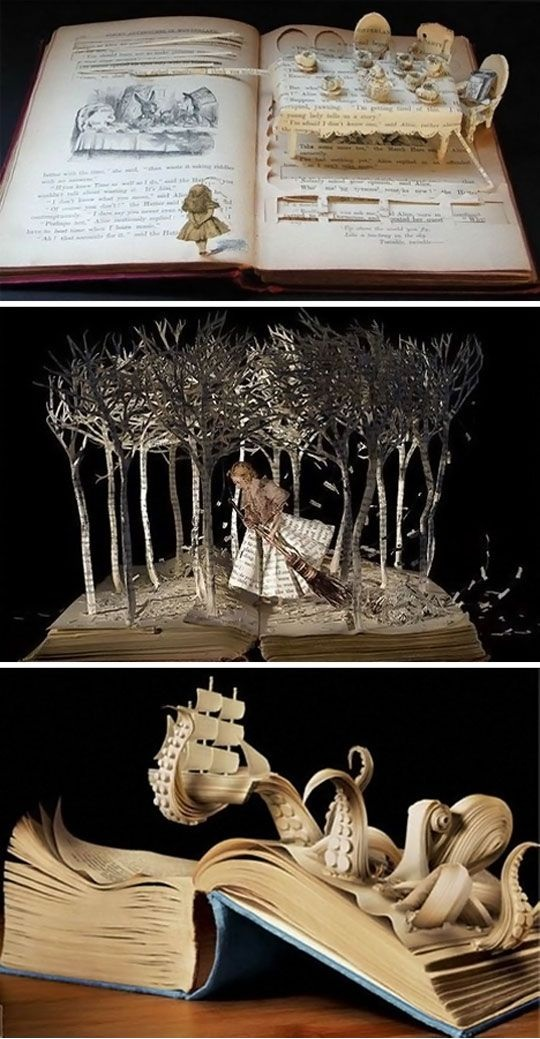Amazing carving inspired by each book's story