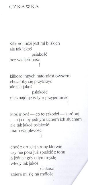 """Z tomu Urszuli Kozioł  - """"Przelotem"""""""