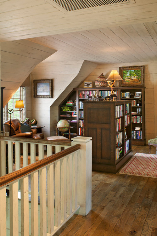 A library/home office on Lake Toxaway, NC. Designer Kathryn Long.