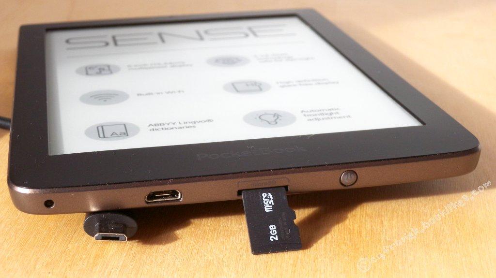 PocketBook Sense gniazdo USB i microSD