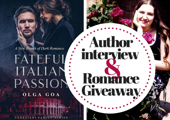 Author interview with Olga Goa + Romance Giveaway - BookLikes