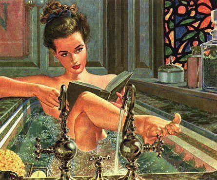 Female Bookish Fantasy Art