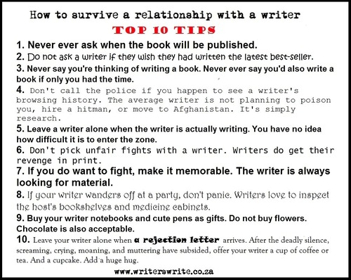 Relationship with a writer