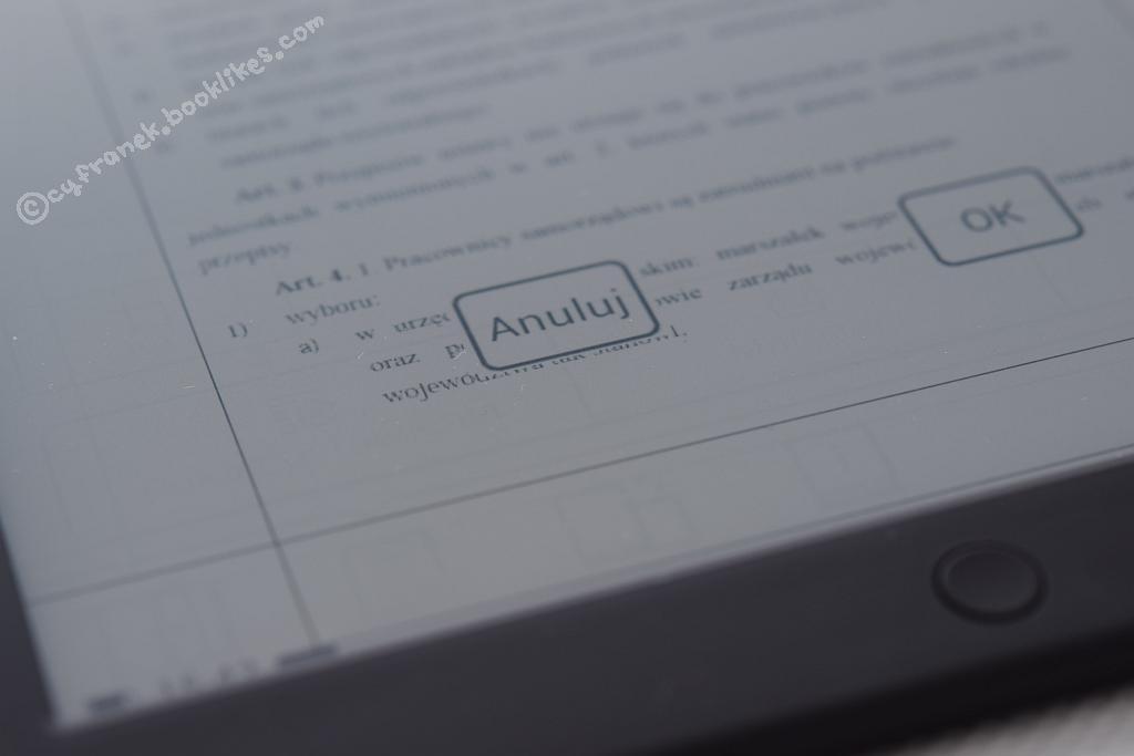 Plik PDF na czytniku Icarus Illumina XL