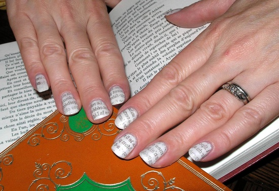 Nails for book maniacs